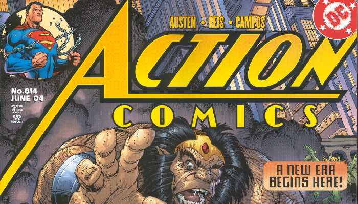 ACTION COMICS 814 LOGO
